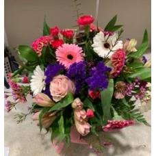 Fresh Flower Arrangement in Vase $100