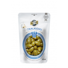 Olives Dumet - Chalkidiki Garlic  (375 ml pouch)